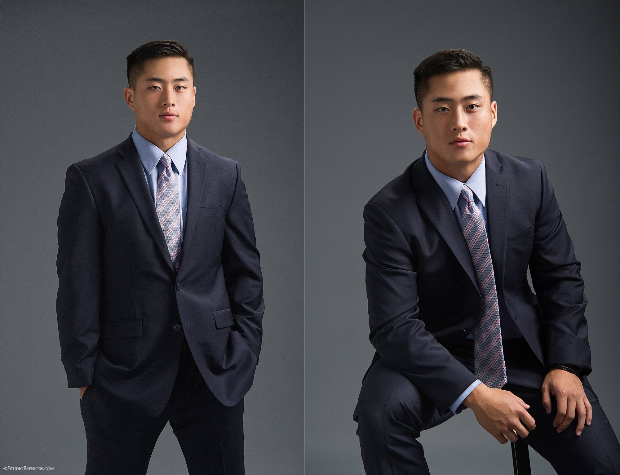 Studio B Portraits senior pictures of handsome Asian guy in suit and tie.jpg