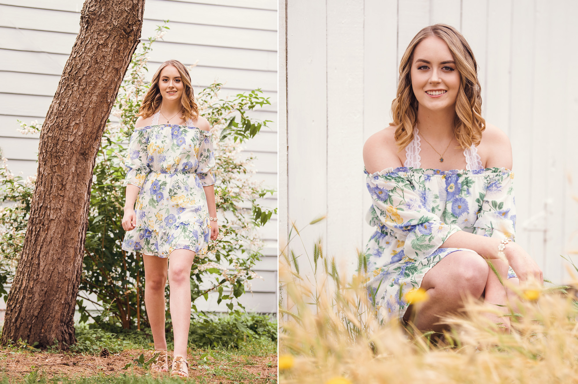 Studio B Portraits_Pretty high school senior in floral dress sitting in golden grass2.jpg