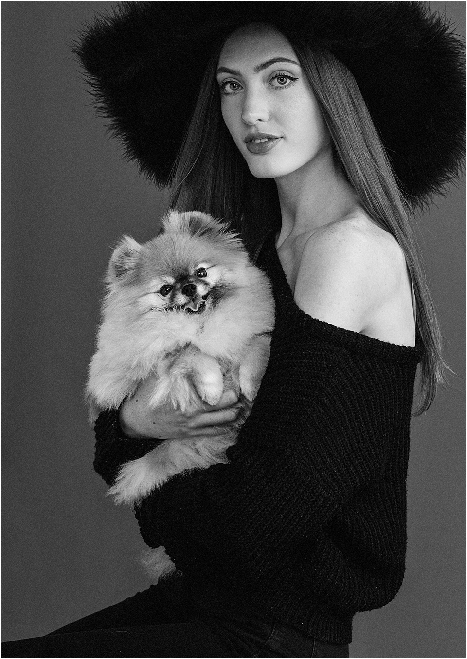Shout out to our stunning model Alyssa and her fur baby for playing with us in the studio, inspired by the amazing  Gigi Hadid .