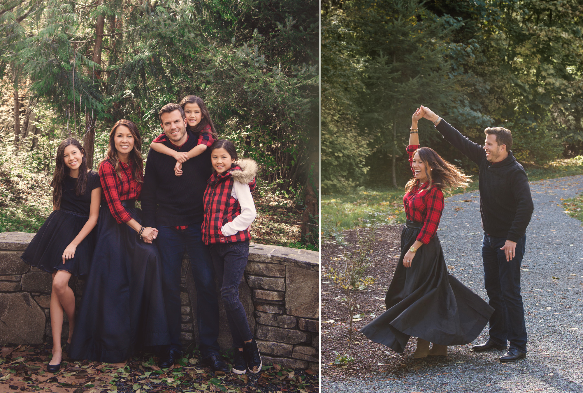 Studio B Portraits_Beautiful fall holiday Family pictures in red plaid and black.jpg
