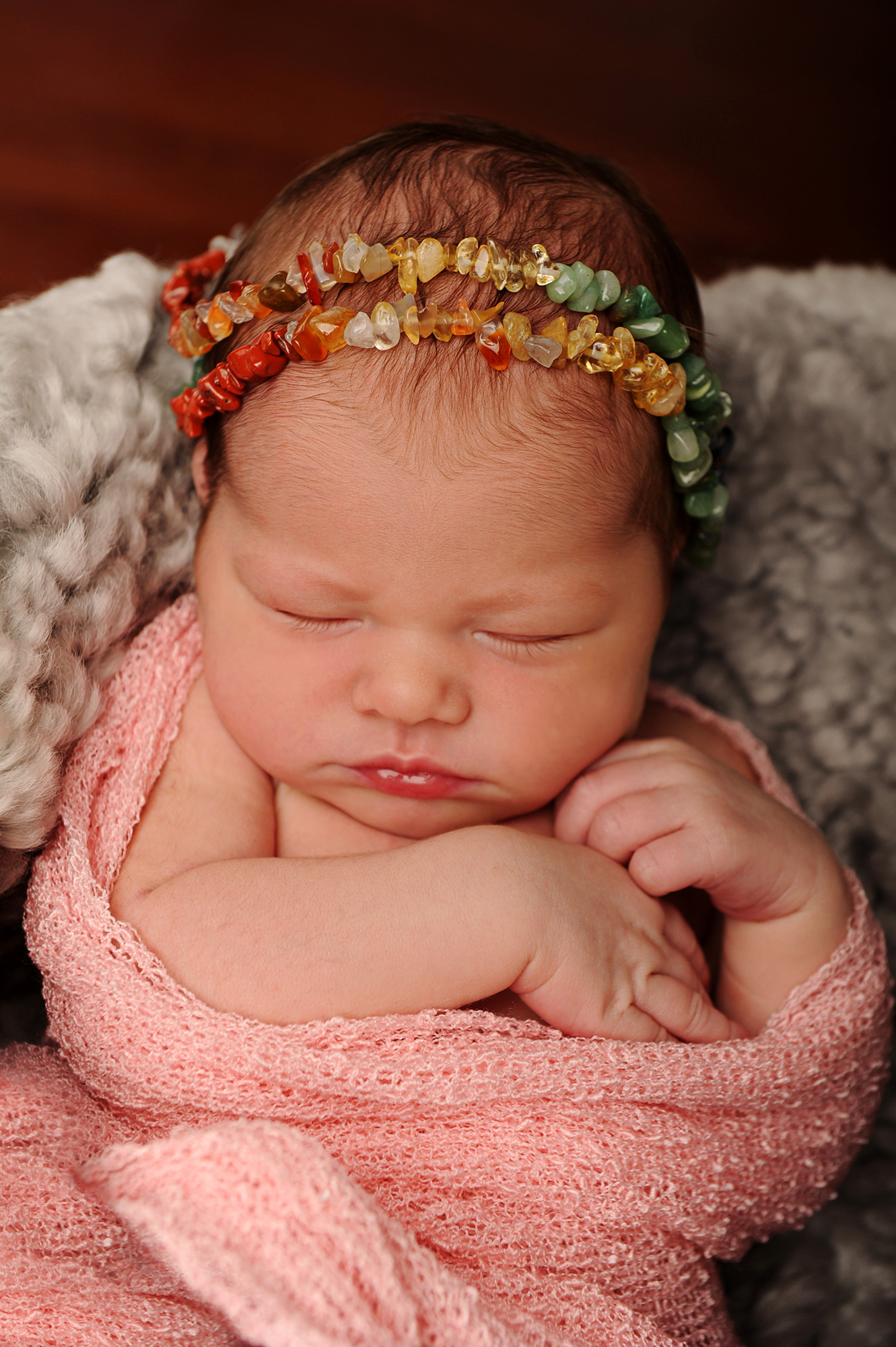 Newborn girl wrapped in pink blanket_ShuteNB_8281.jpg