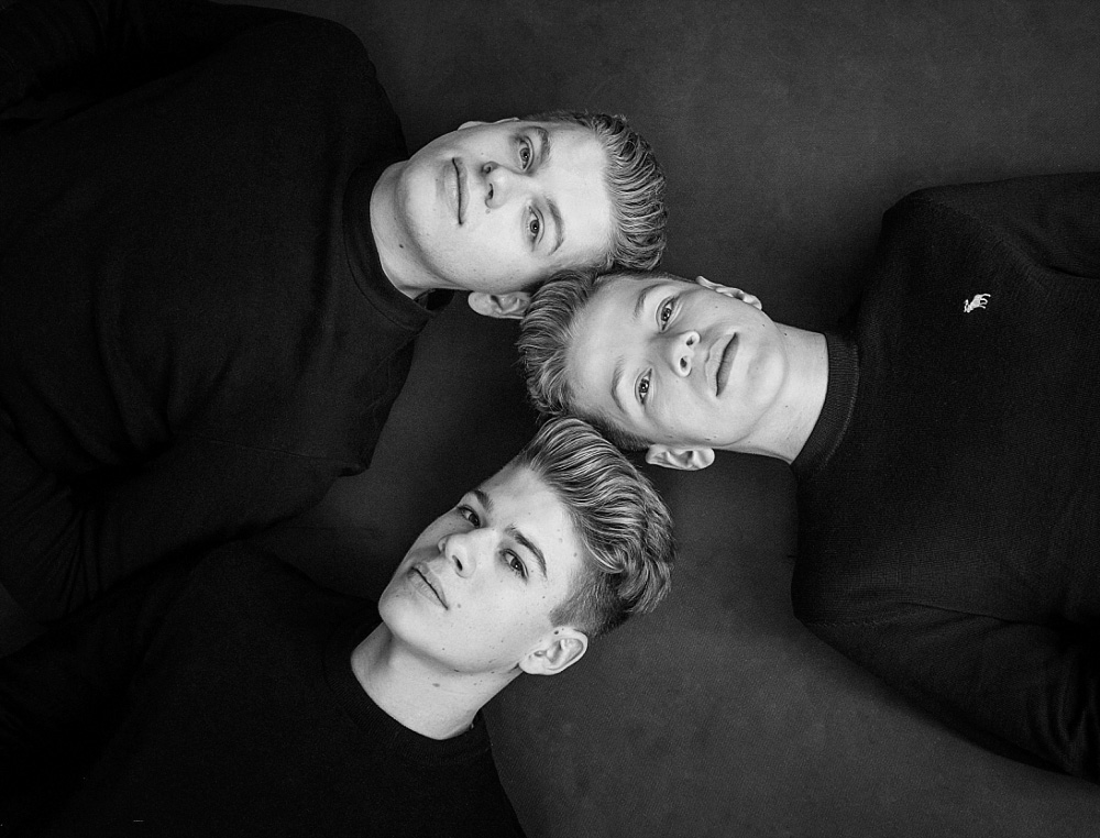 The three brothers and I have photographed together when they were younger and this top-down was a throwback to our early session.