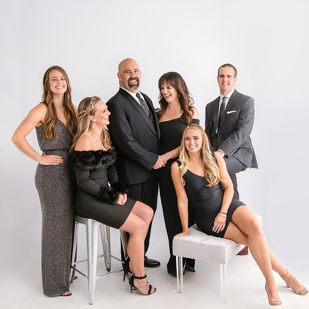 Getting fancy for family portraits with the Kasel's is seriously a guilty pleasure… times 6.