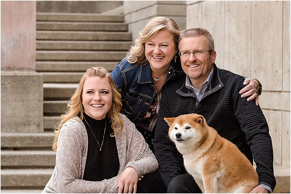 Of course their family portraits would not have been complete without their Shiba fur baby, Thyme! We spent the afternoon strolling and laughing with these four, and the genuine love for one another that was in the air was all we needed to be inspired to create some photo magic!