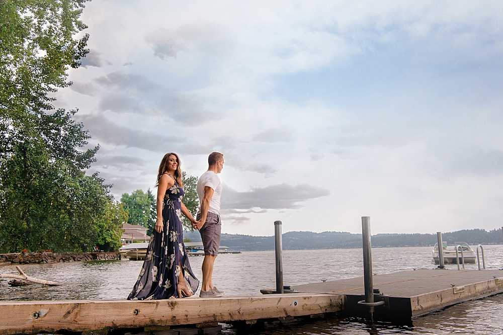 You lead and I'll follow… for a romantic stroll on Lake Sammamish.  PC: Studio B Portraits
