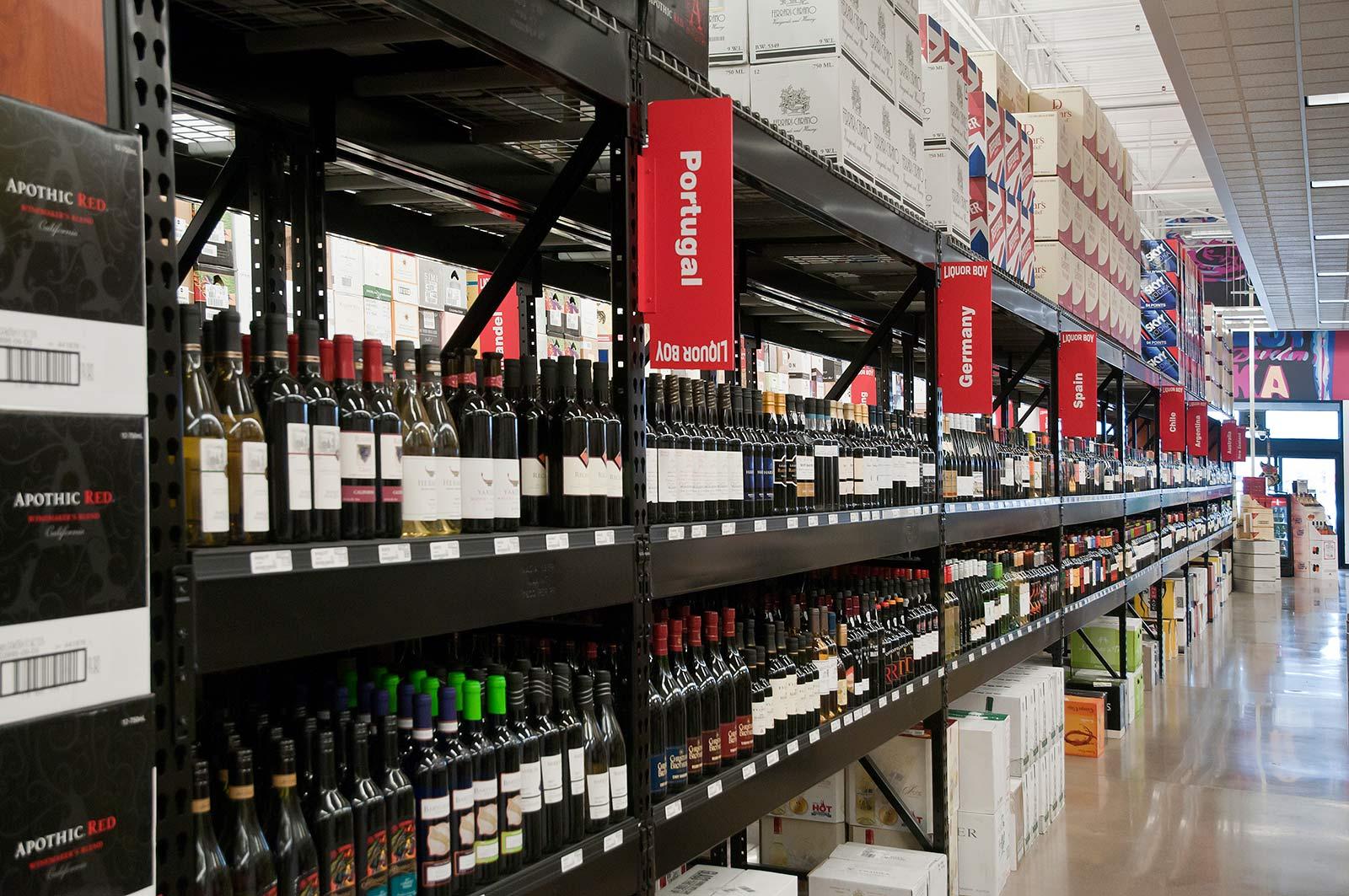 Liquor Boy Wine Shelf