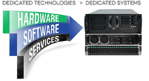 Integrated Solutions : The solutions that Dedicated Computing provides are fully-integrated with hardware, software and services components that work together to support customer program needs.