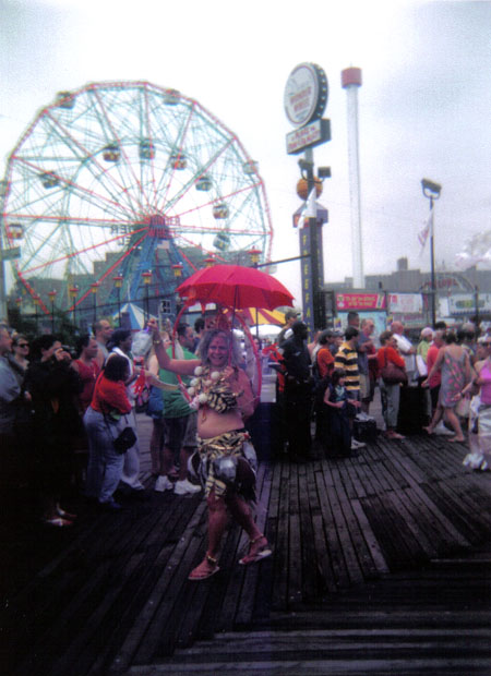 Mermaid Parade photo taken with a Holga camera