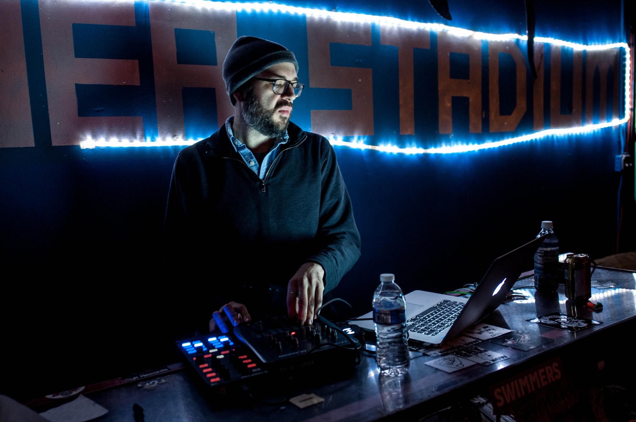DJ Eric Phipps at Shea Stadium on January 23, 2015