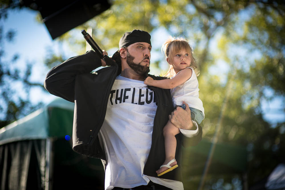 R.A. the Rugged Man and daughter