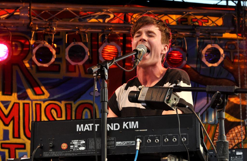 Matt & Kim at 10th annual Village Voice Siren Festival