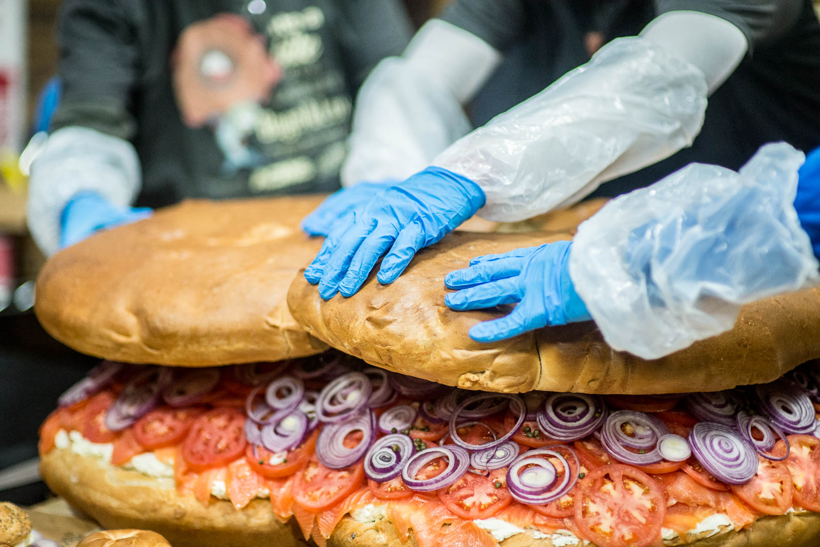 Creating The World's Largest Bagel & Lox