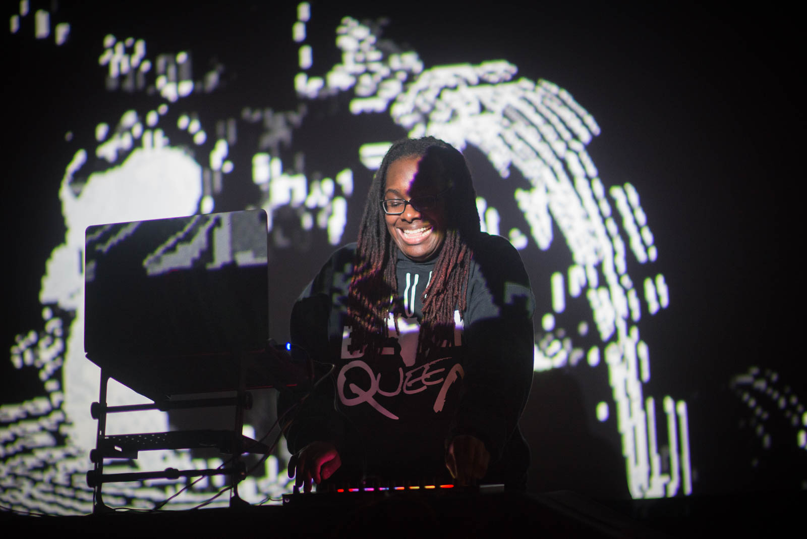 Jlin during Interference A.V. on Monday, February 19, 2018.