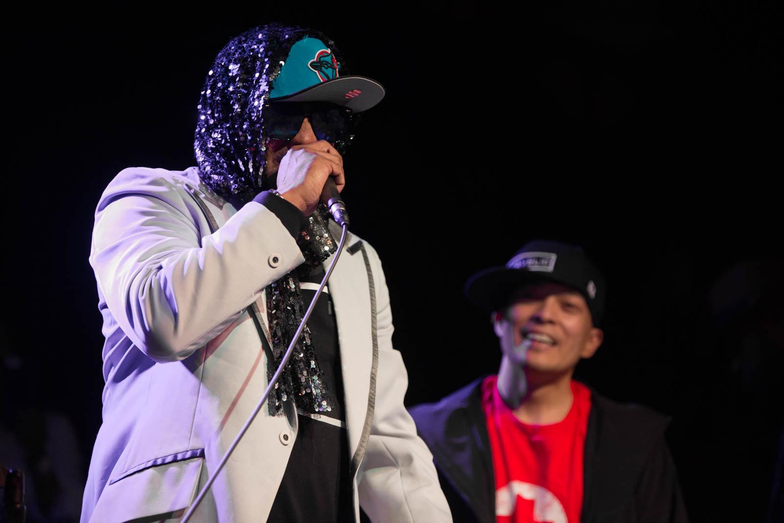 Kool Keith and DJ QBert of Dr. Octagon at Brooklyn Bowl on Thursday, April 5, 2018.