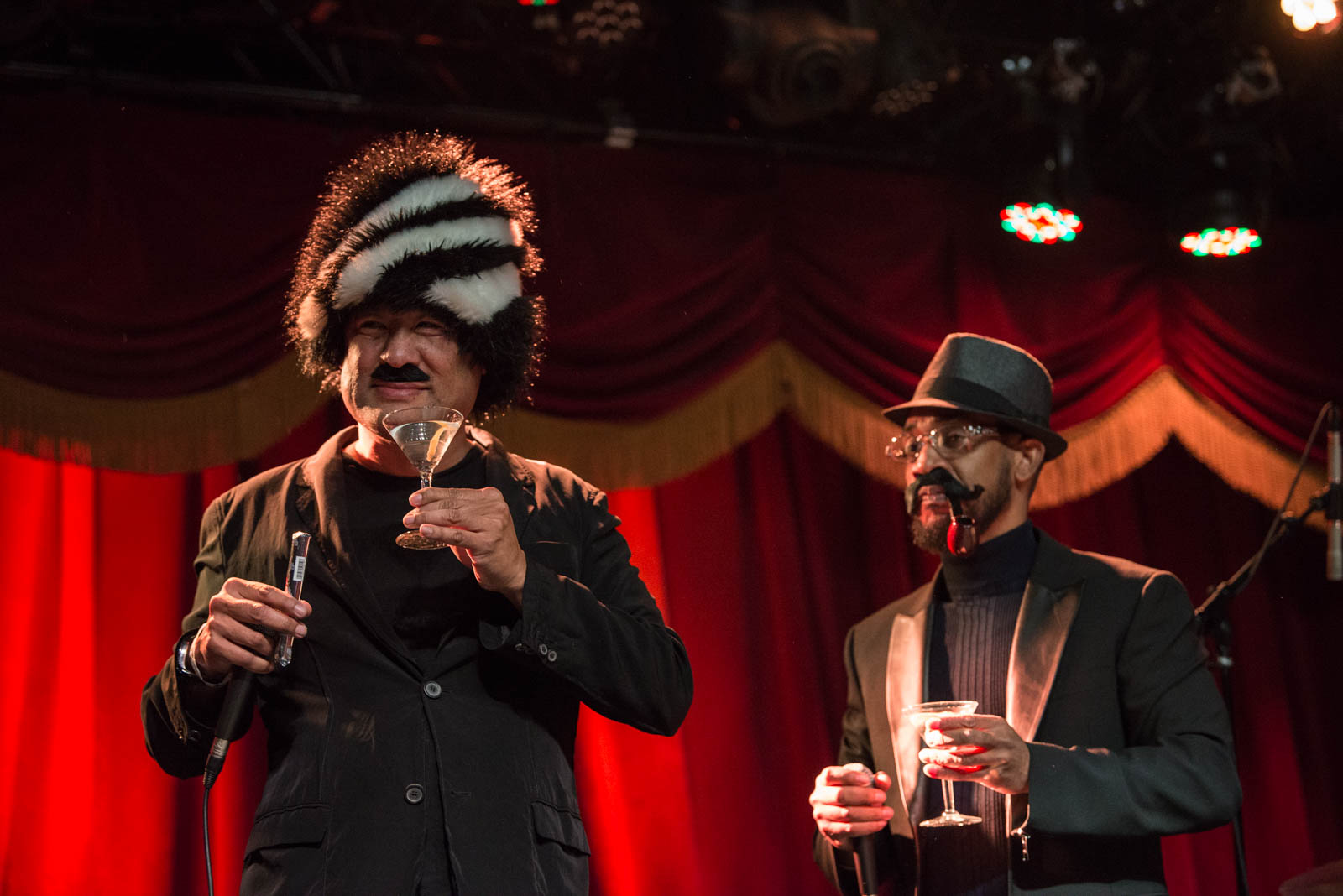 Nathaniel Merriweather (Dan the Automator) and Chest Rockwell (Prince Paul) of Handsome Boy Modeling School on Thursday, April 5, 2018 at Brooklyn Bowl.