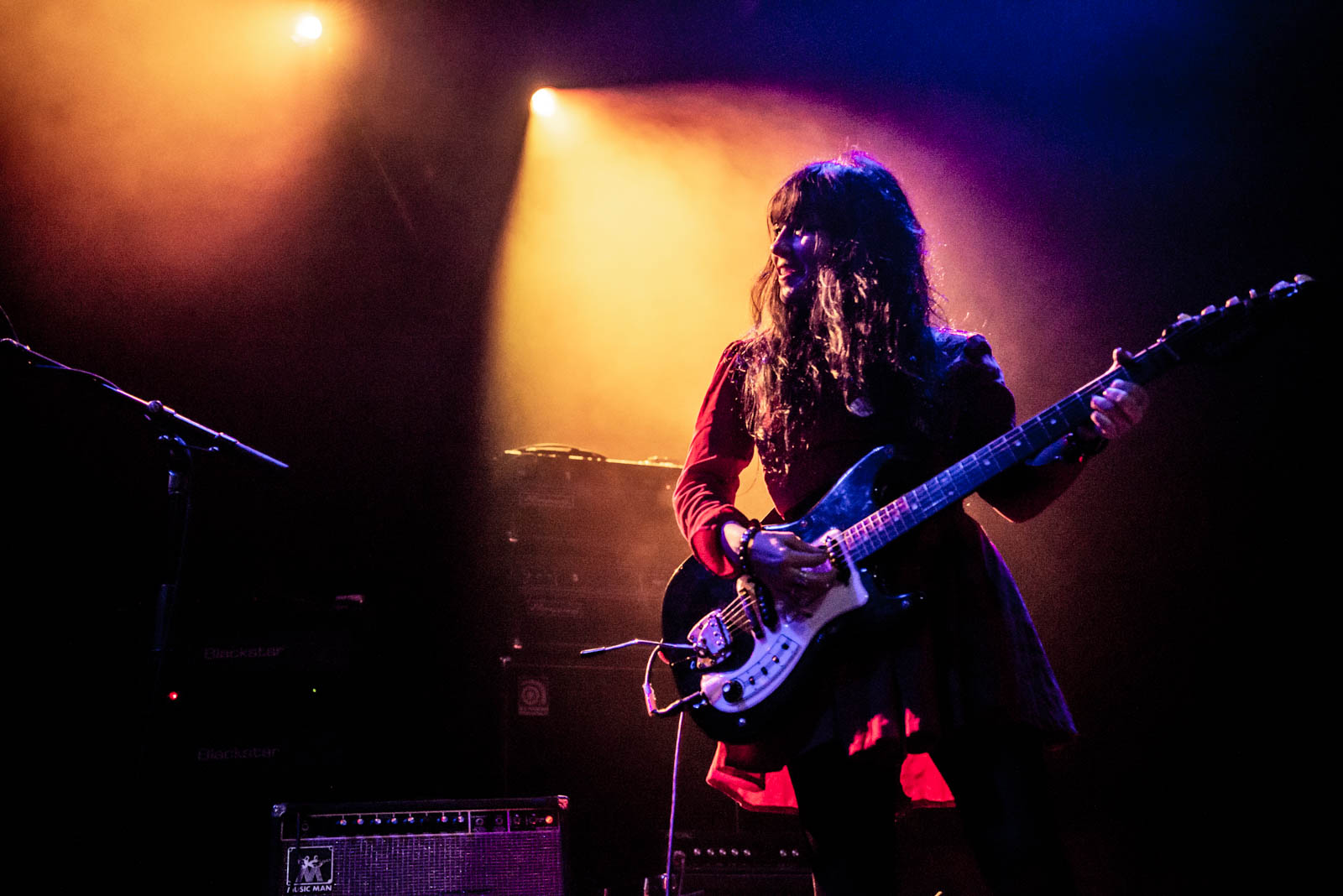 Bonnie Bloomgarden of Death Valley Girls performing at Brooklyn Steel on Thursday, April 12, 2018.