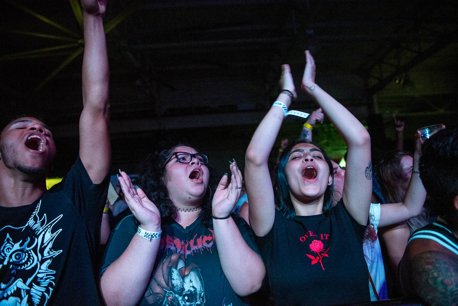 During Slashers at House of Vans