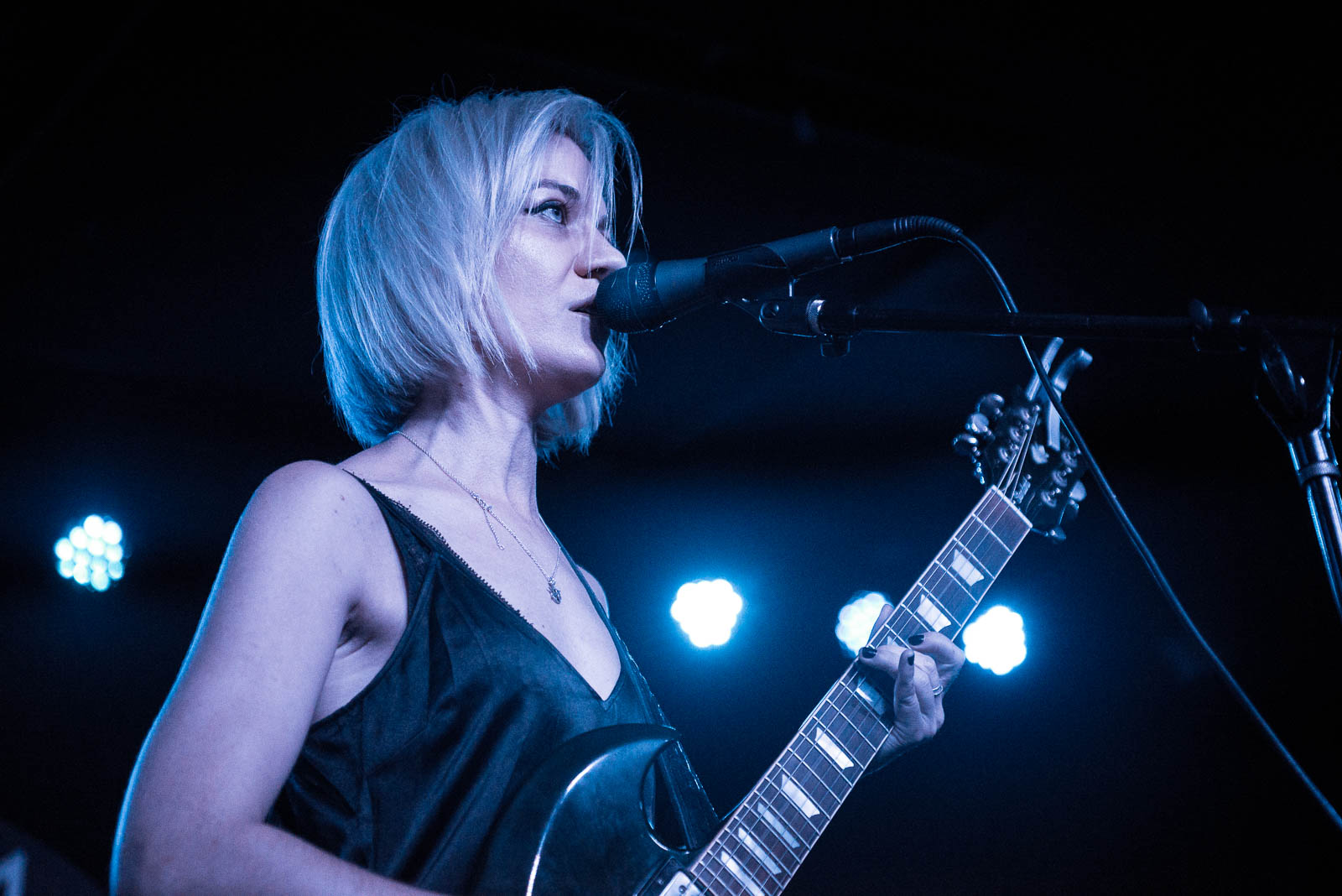 Bex Sheers of De Lilith performing at Knitting Factory on Thursday, August 23, 2018.