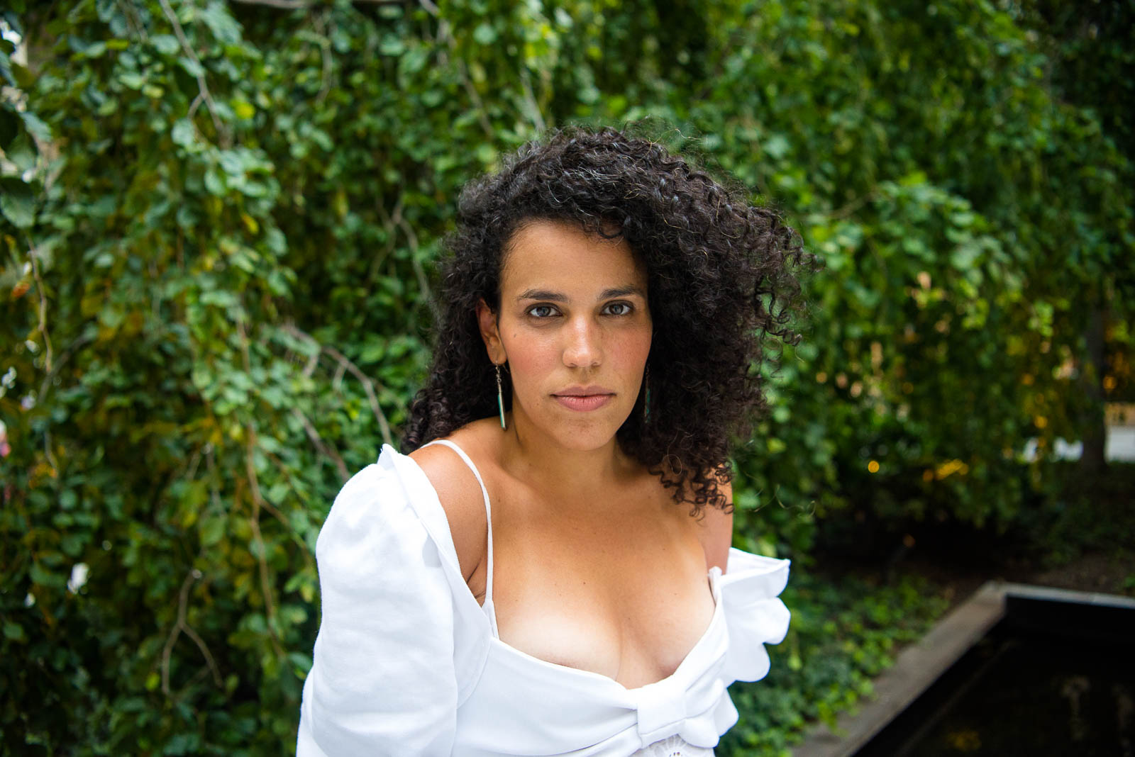 Xenia Rubinos after her performance in MoMA's sculpture garden on Thursday, August 8, 2018.