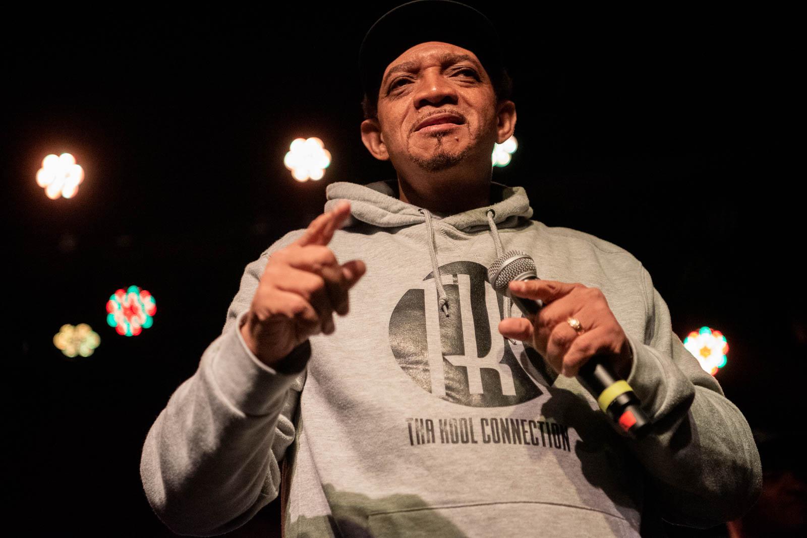 Kool DJ Red Alert during Jungle Brothers set at Brooklyn Bowl on Friday, October 26, 2018.