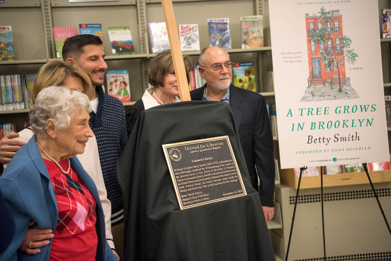 Unveiling the Literary Landmark plaque