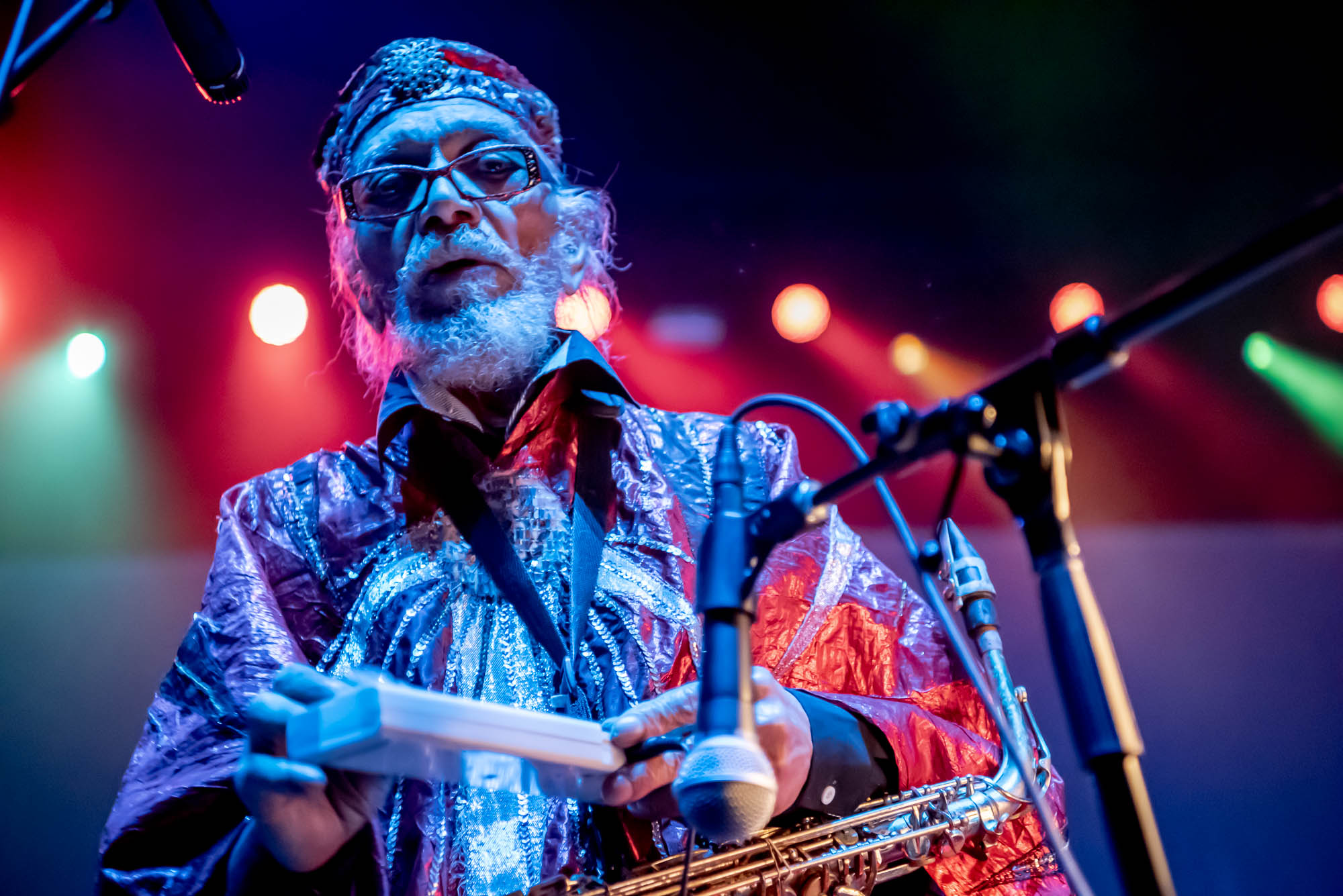 Marshall Allen of The Sun Ra Arkestra at Hammerstein Ballroom on Saturday, December 9, 2018.