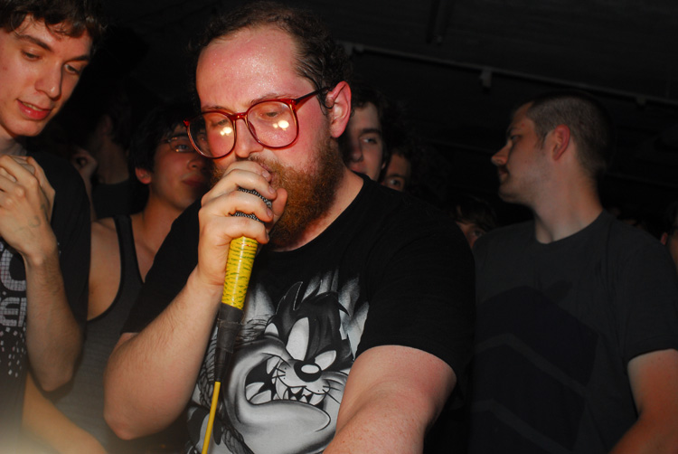 Dan Deacon before his set at the Copycat Annex in Baltimore, MD on Saturday, April 19, 2008.