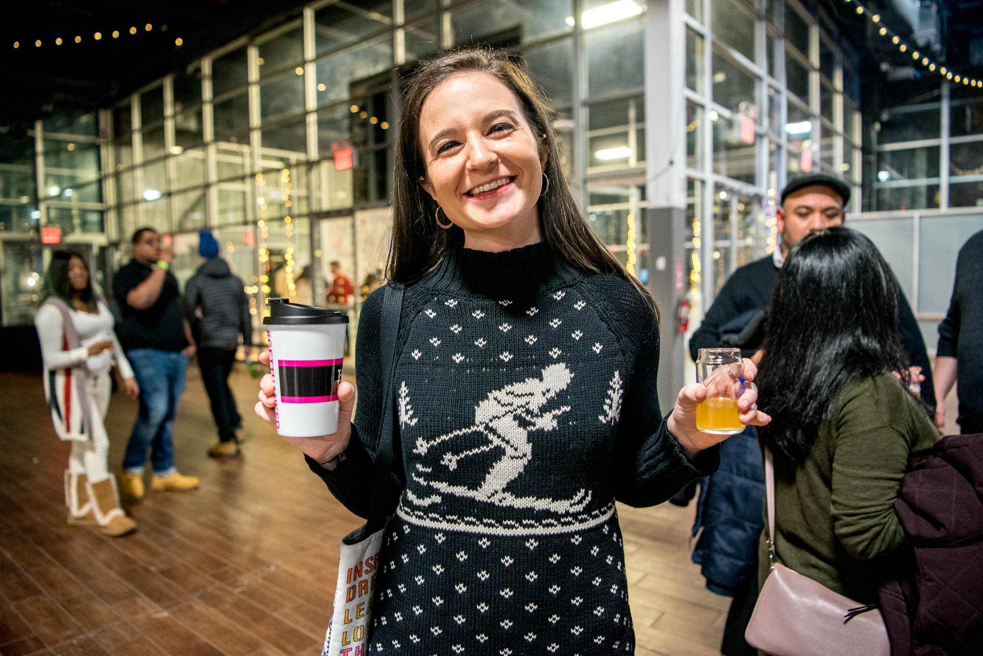 Portrait of a woman in a winter sweater at Winter Warmer on Saturday, February 2, 2019.