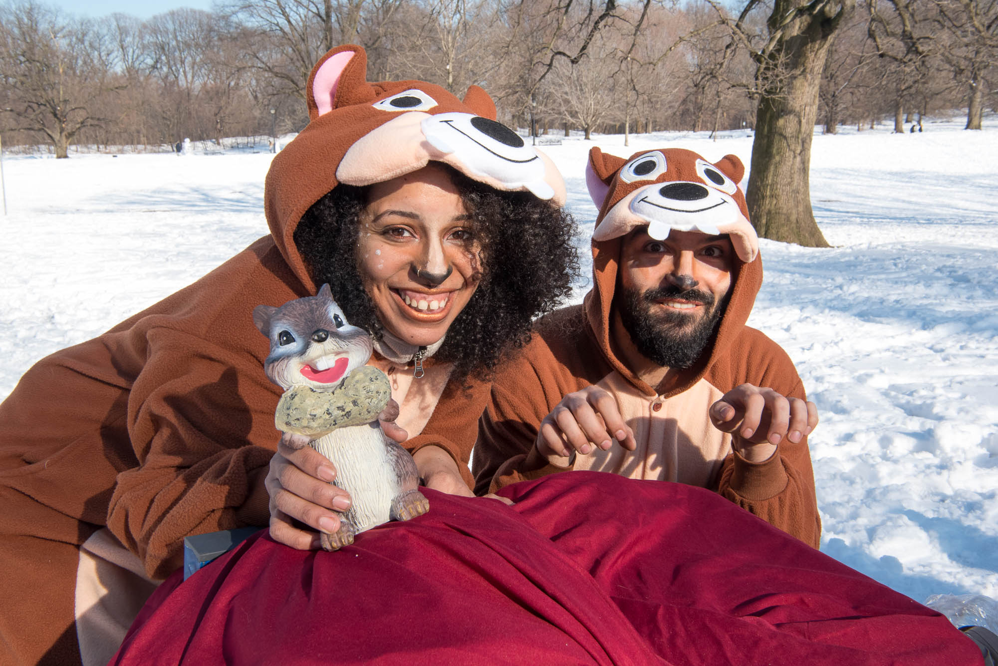 Members of Team Nutty by Nature during Competitive Winter Picnicking in Prospect Park on Saturday, March 2, 2019.