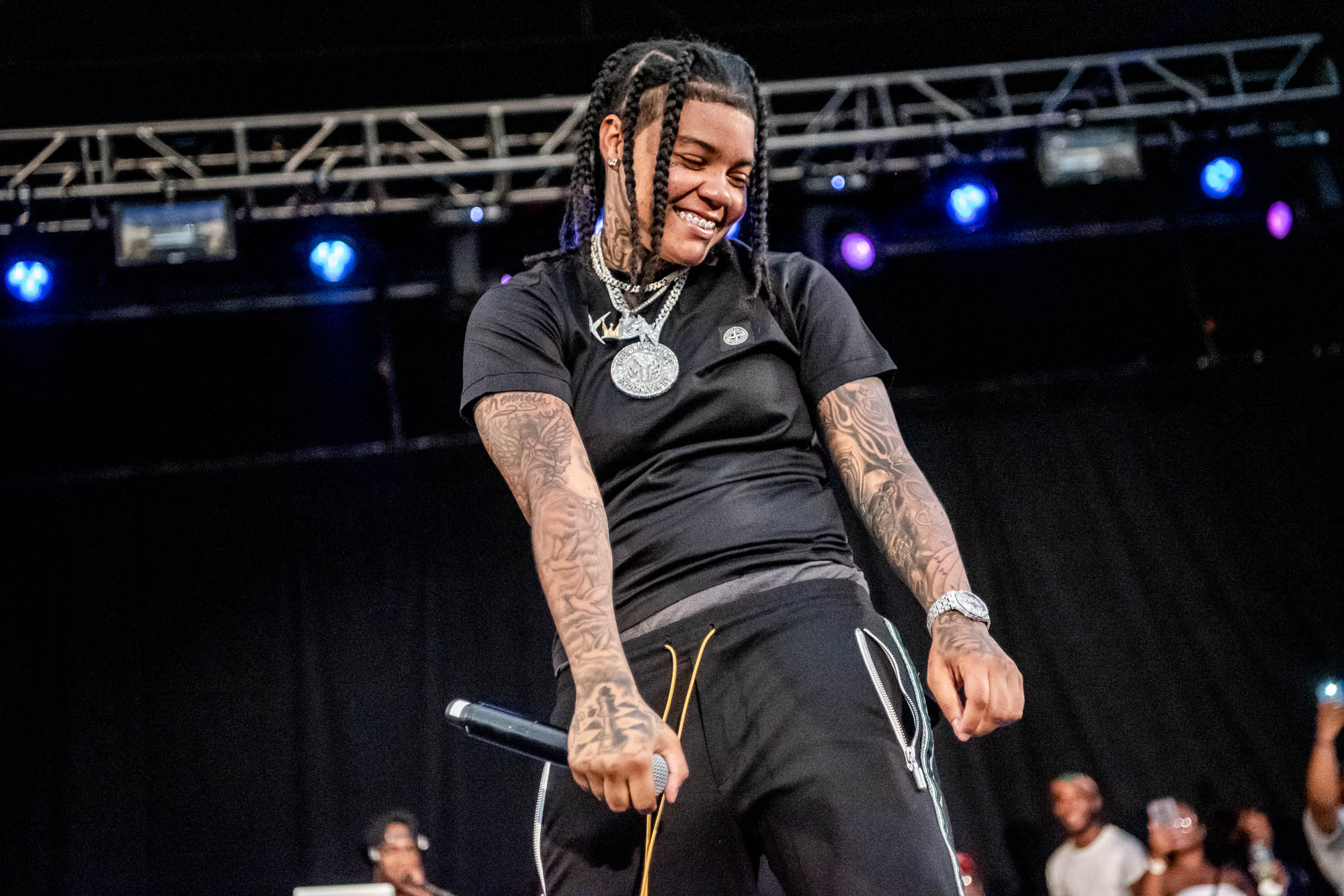 Young M.A performs at Betsy Head Park in Brooklyn, NY on Friday, June 28, 2019.
