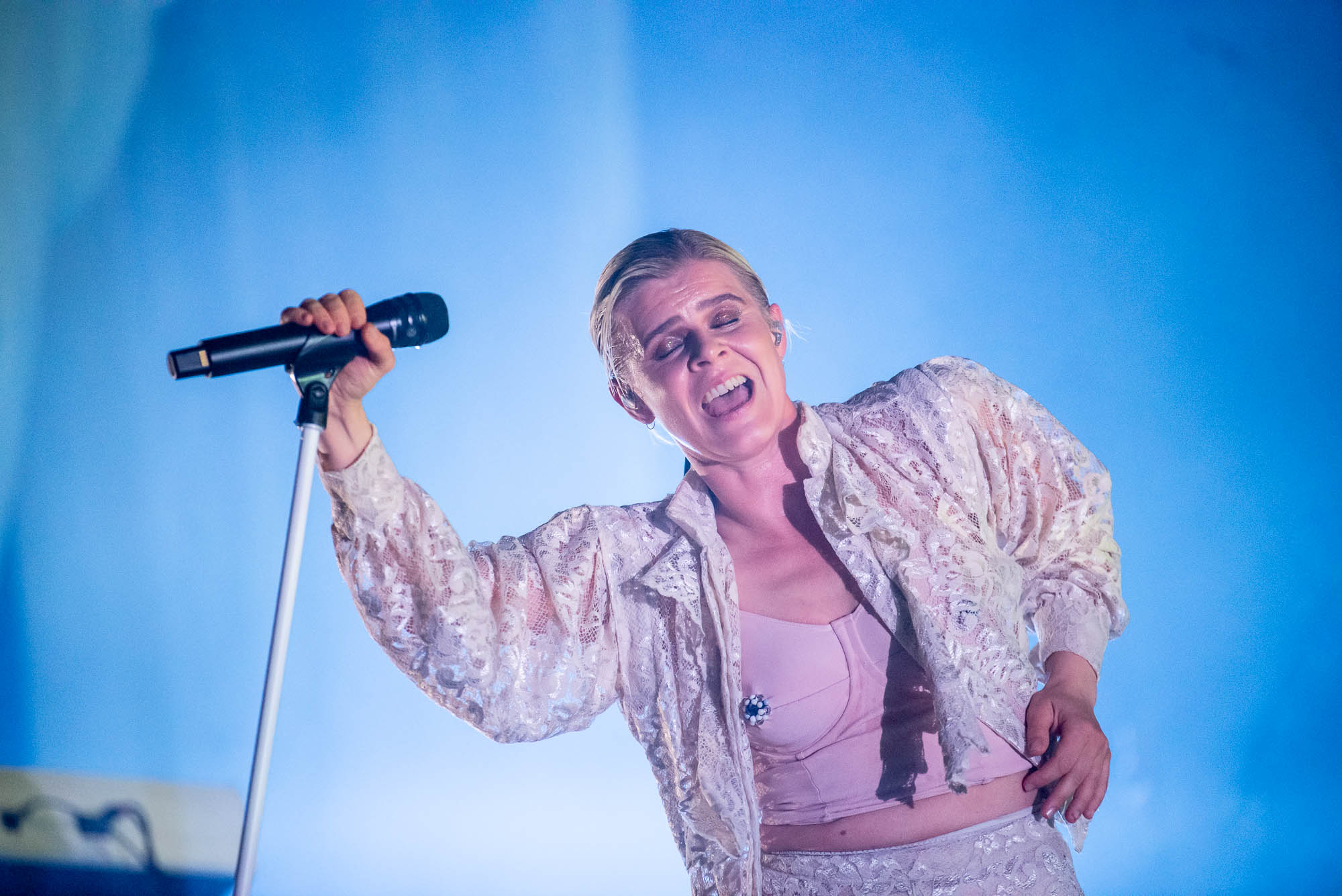 Robyn performing at Barclays Center on Friday, July 19, 2019.