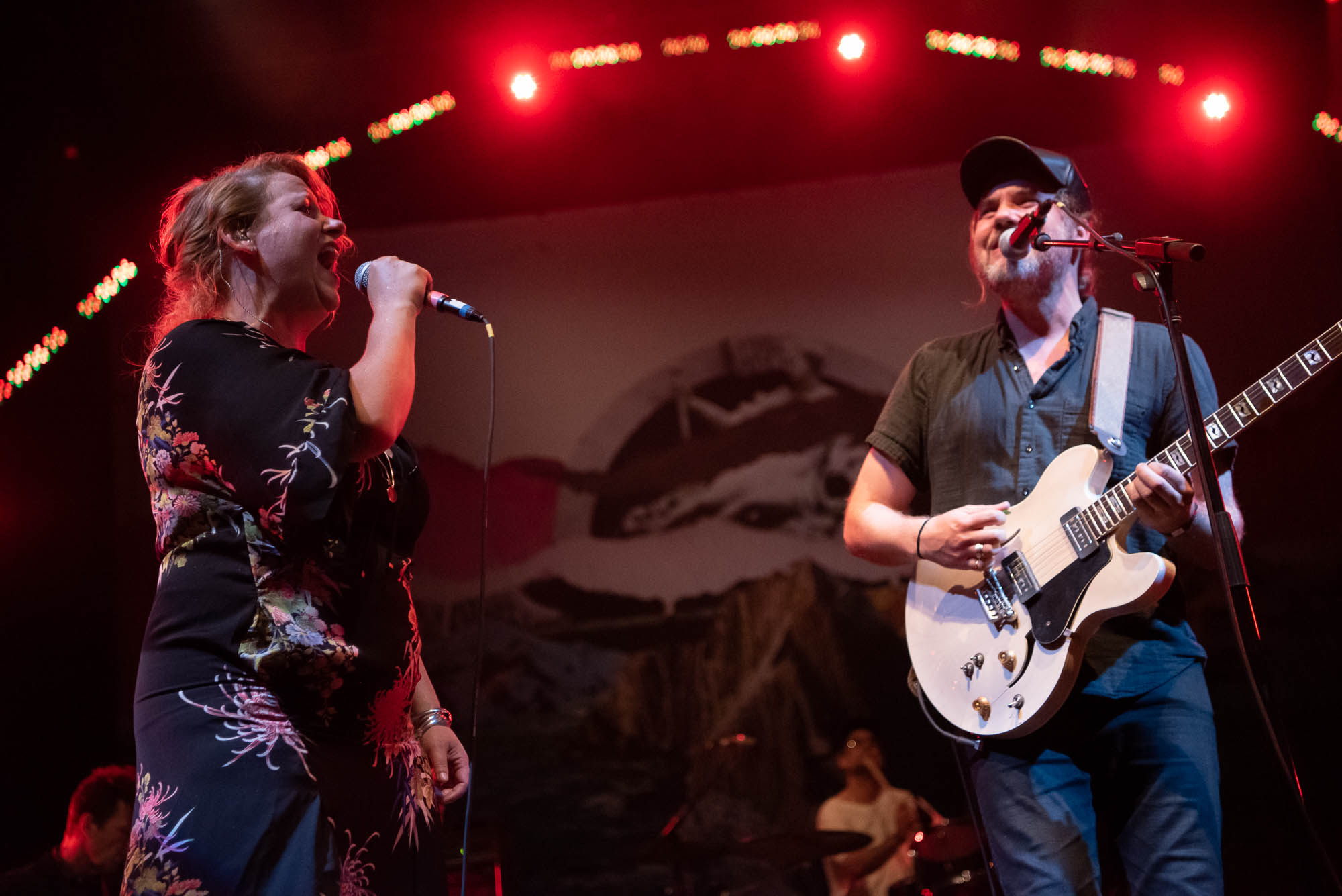 Amy Millan and Kevin Drew of Broken Social Scene performing at BRIC Celebrate Brooklyn! at Prospect Park Bandshell on Thursday, July 25, 2019.