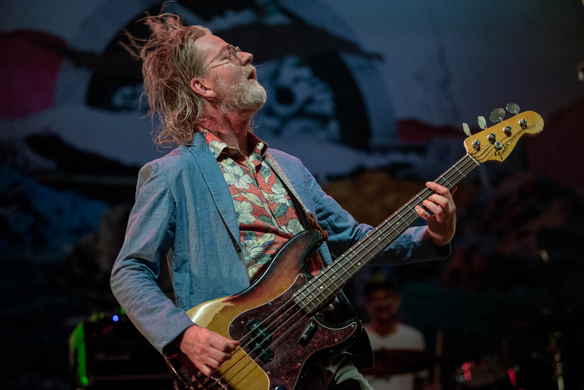 Brendan Canning of Broken Social Scene during their performance at BRIC Celebrate Brooklyn! at Prospect Park Bandshell on Thursday, July 25, 2019.