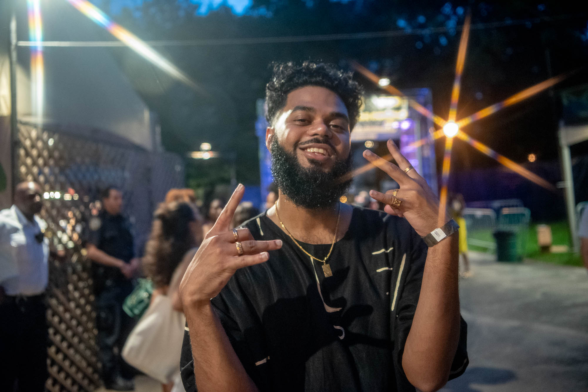 Anik Khan after his performance at BRIC Celebrate Brooklyn! Festival at Prospect Park in Brooklyn, NY on Friday, July 26, 2019.