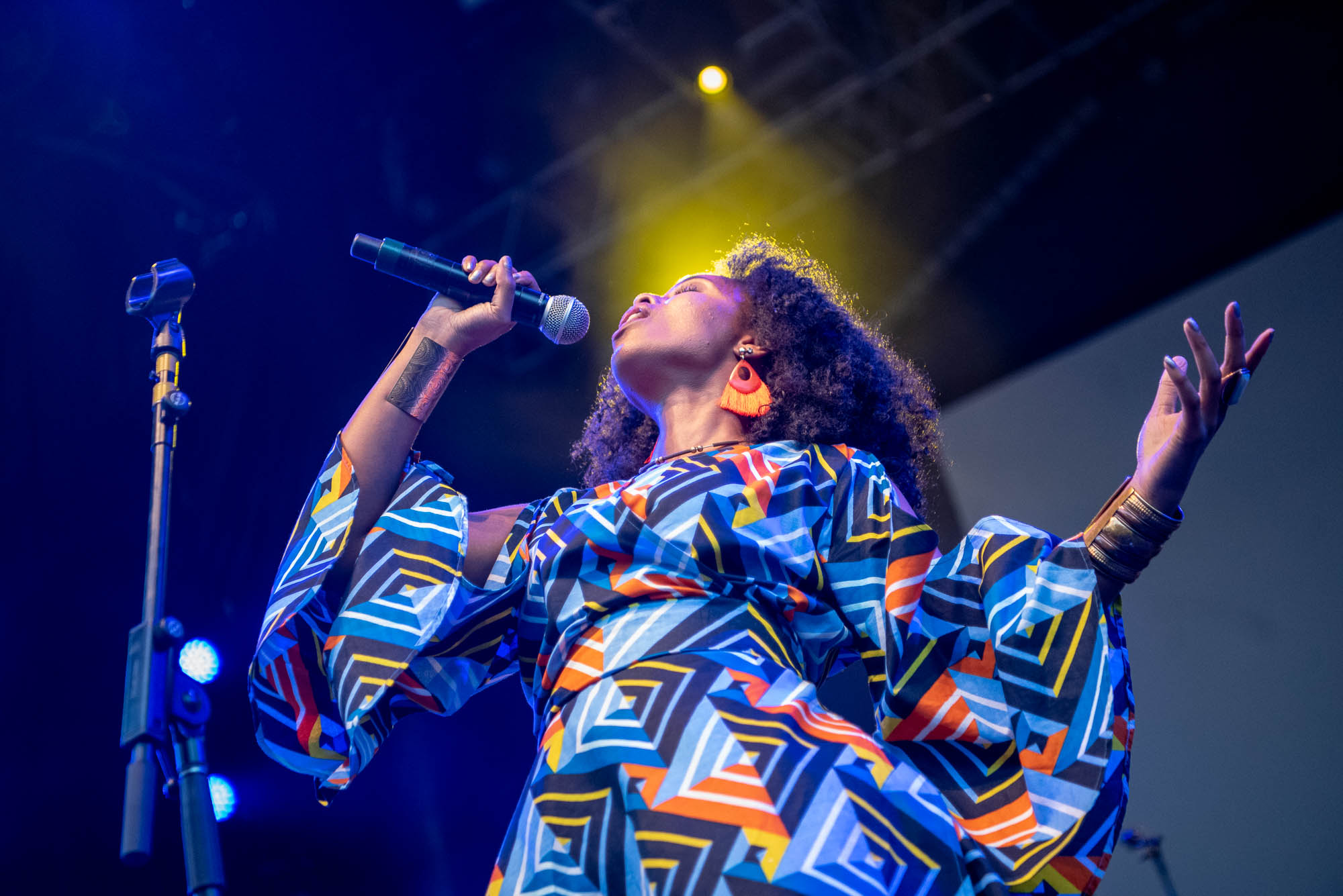 Salima Rah of Delsonido during their performance at BRIC Celebrate Brooklyn! Festival on Saturday, August 10, 2019.