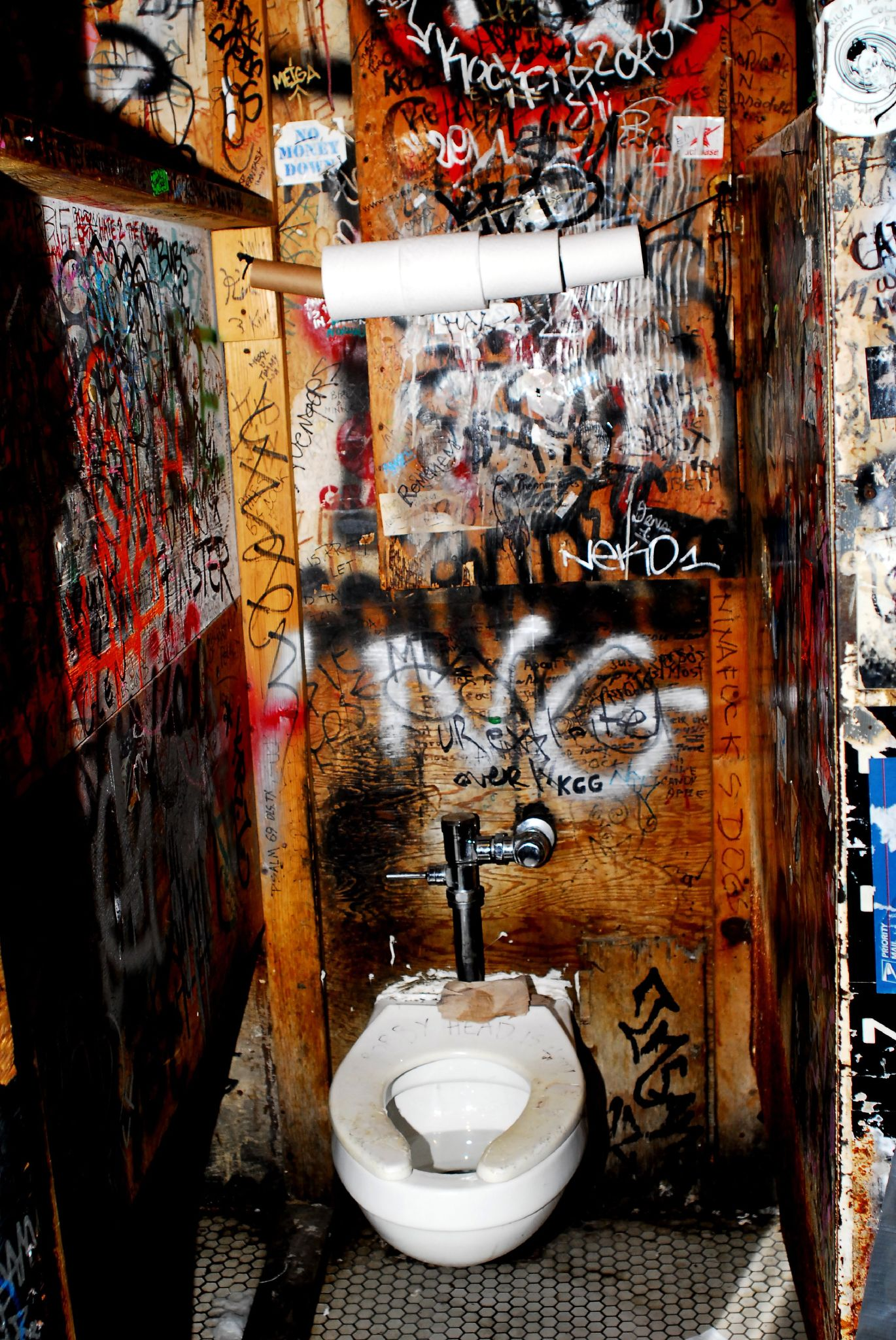 CBGB bathroom stall