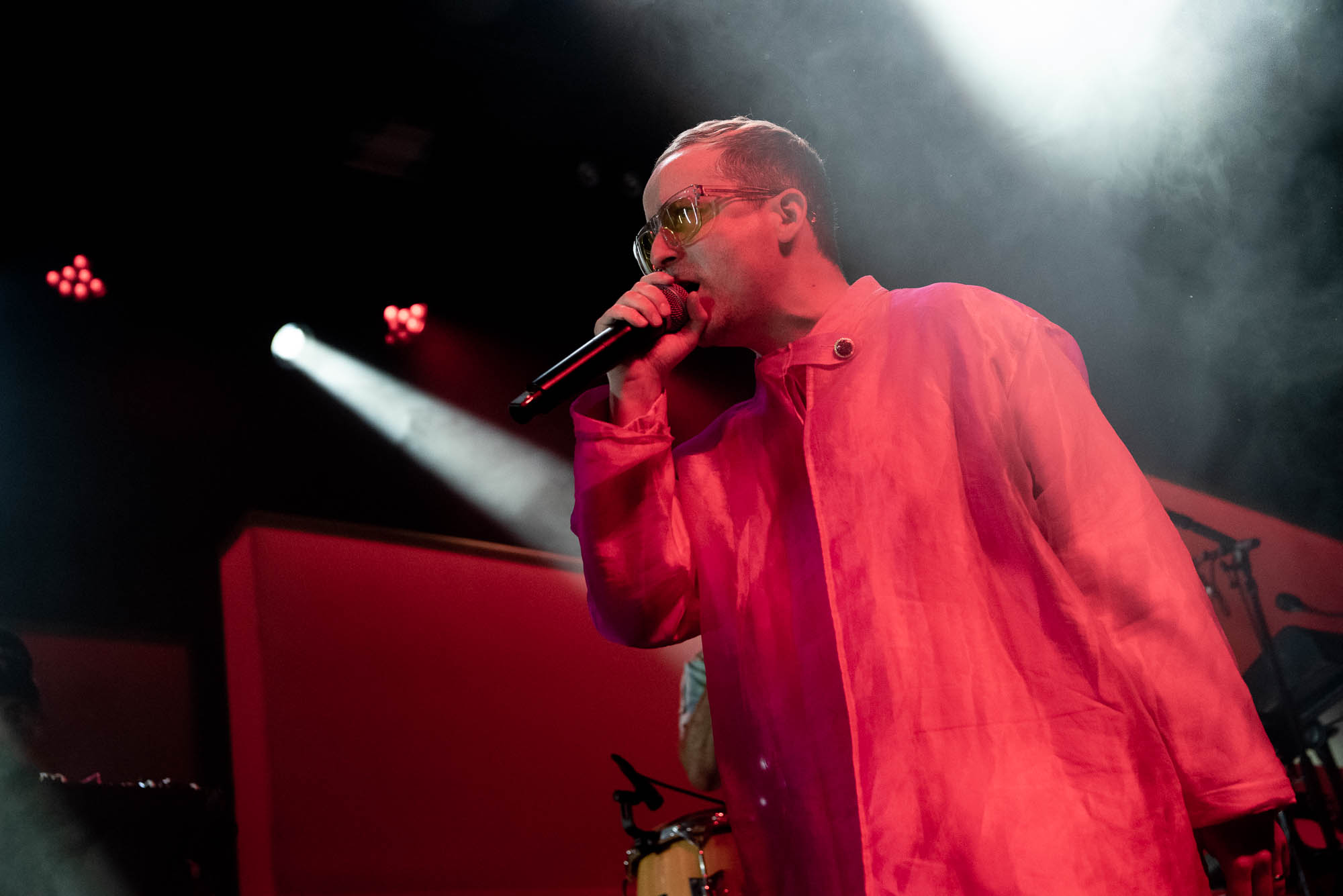 Alexis Taylor of Hot Chip during their set at Brooklyn Steel on Tuesday, September 3, 2019
