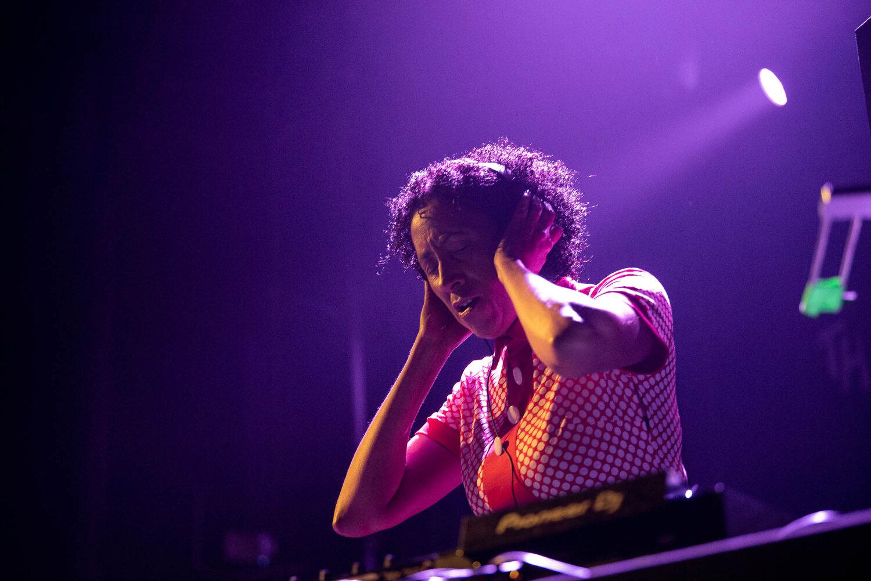 DJ Rhoda Dakar during her set at Gramercy Theatre on Wednesday, September 11, 2019.