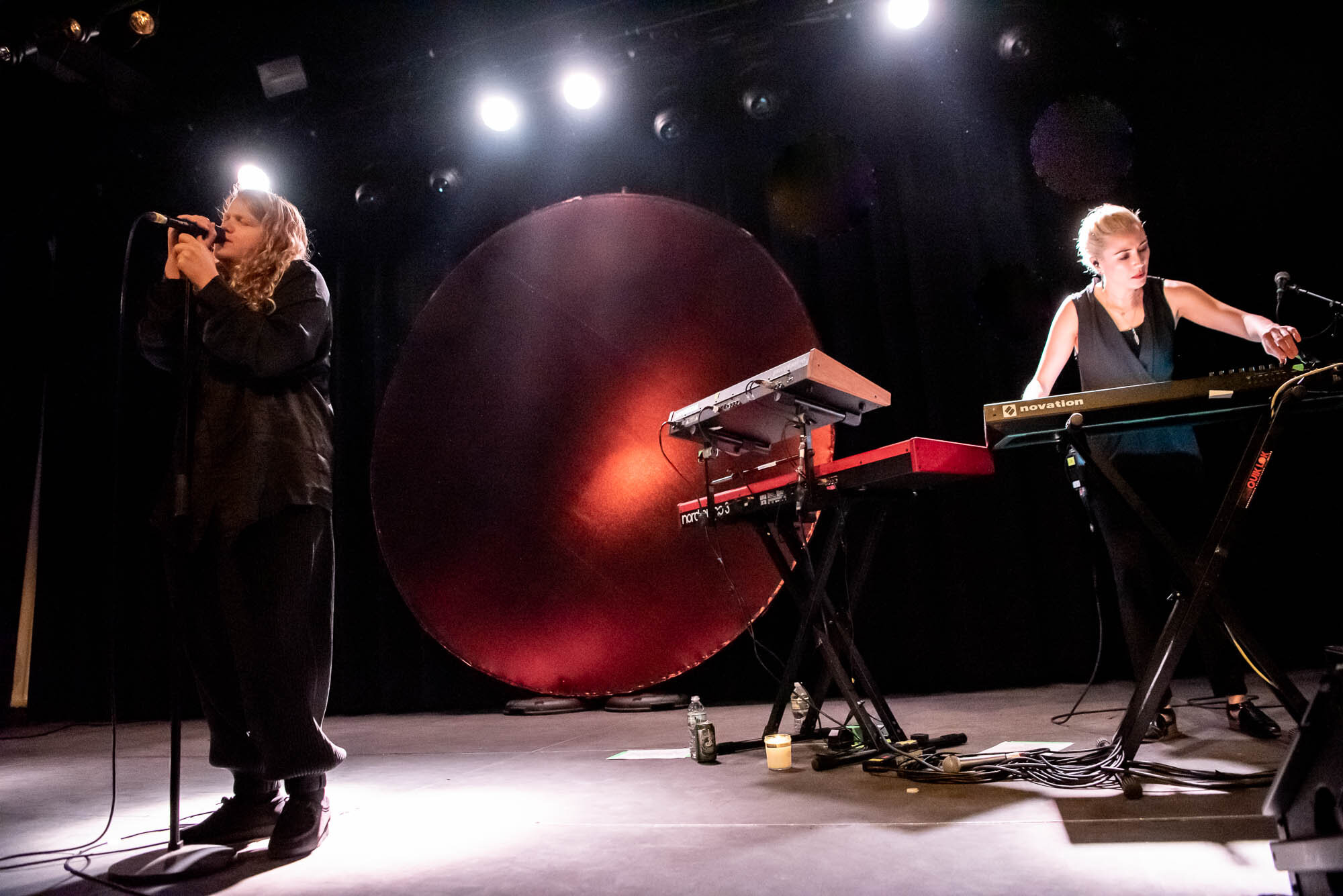 Kate Tempest and Clare Uchima performing at Elsewhere on Tuesday, October 1, 2019.