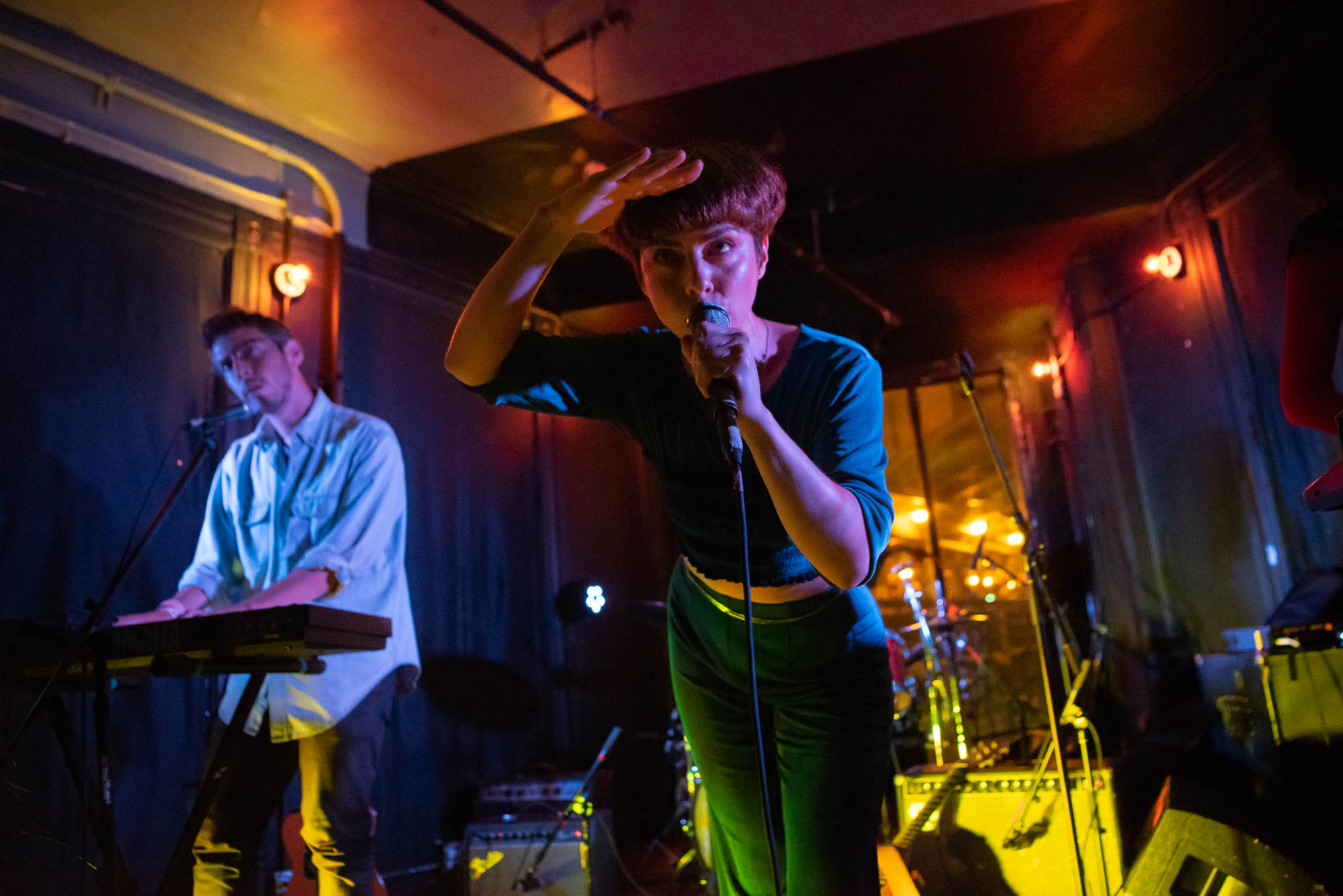 Carlos Hernandez and Rebecca Kauffman of Ava Luna during their set on Friday, October 4, 2019.