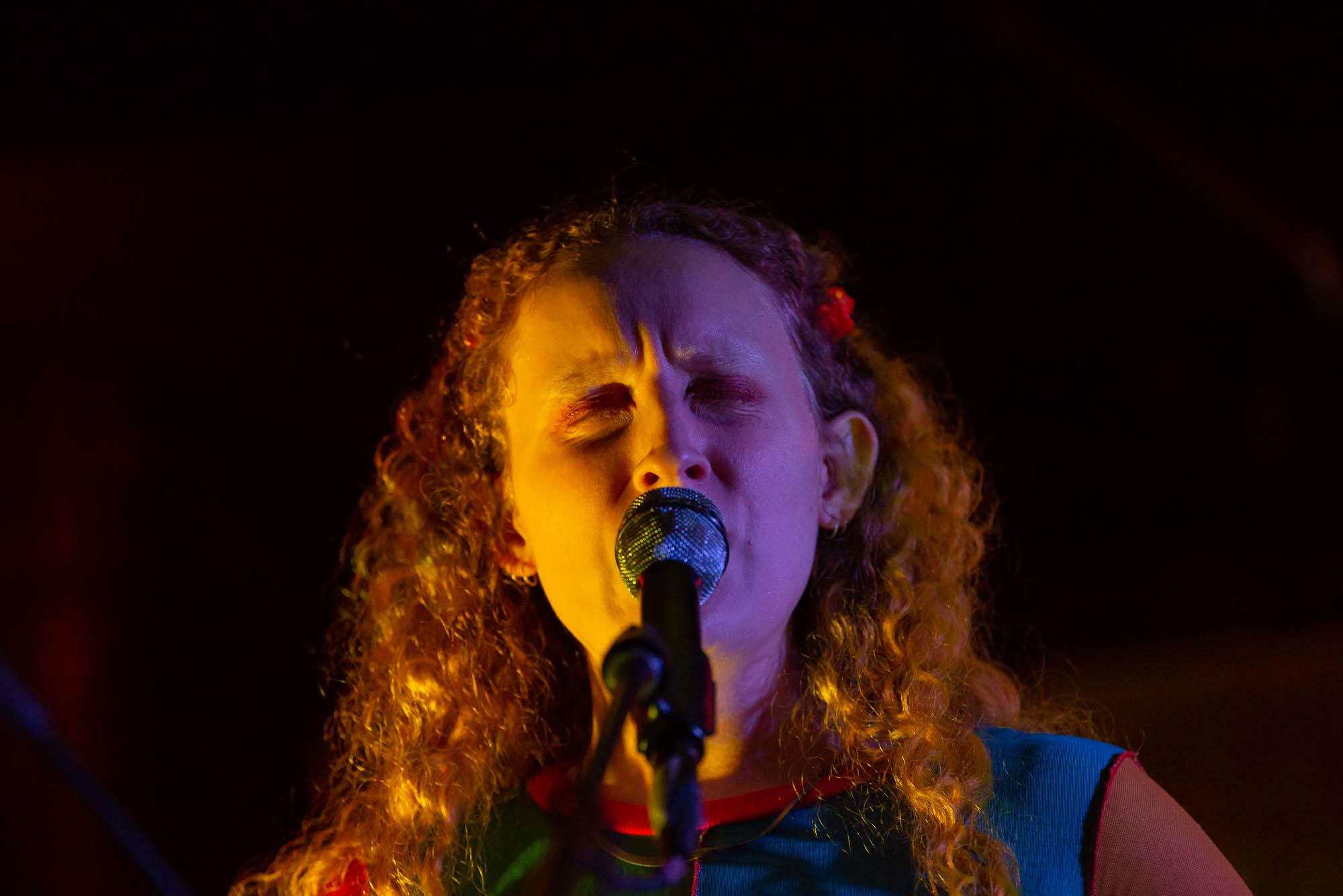 Natasha Jacobs of Thelma performing at Market Hotel on Friday, October 4, 2019.