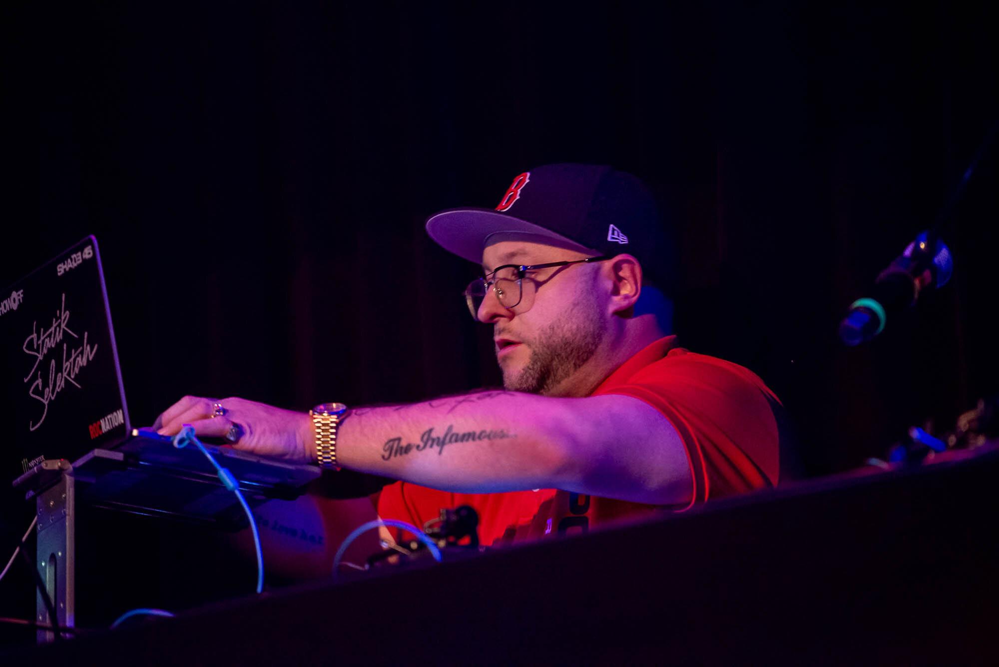 DJ Statik Selektah at Music Hall of Williamsburg on Monday, October 14, 2019.