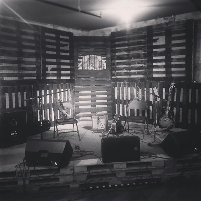 All set up for our gig at @oredockbrewing, presented by @hiawathamusic. Enjoying the heck out of Michigan and having a great tour. Come see us tonight!