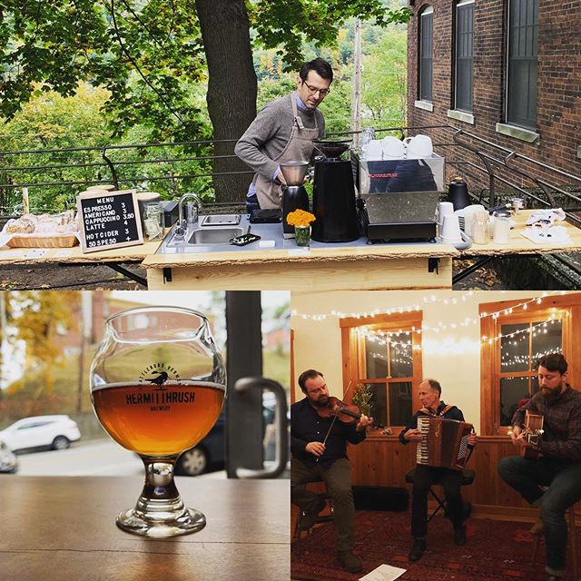 Wow, what a great time in Brattleboro. Rebop Farm was a joy to play. Thank you Ashlyn & Abraham. And it was really special spending some time with our great friends @coreydimario and @lissafiddle, making coffee on Corey's new cart @patiocoffeevt. Even found time to visit @brattlebeer. We're so lucky to do this for a living, and to be surrounded by such great folks who make delicious things. Thanks everyone!