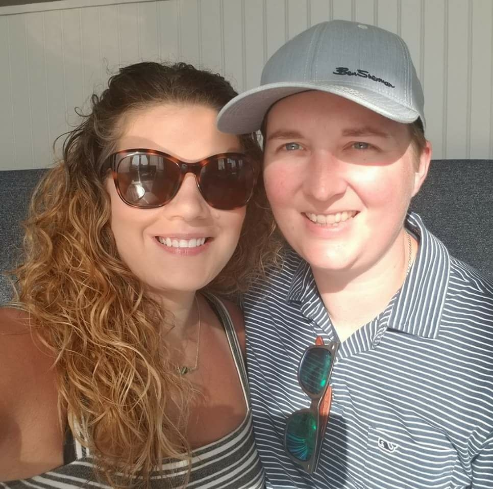 T and I at a real estate networking cruise, June 2018