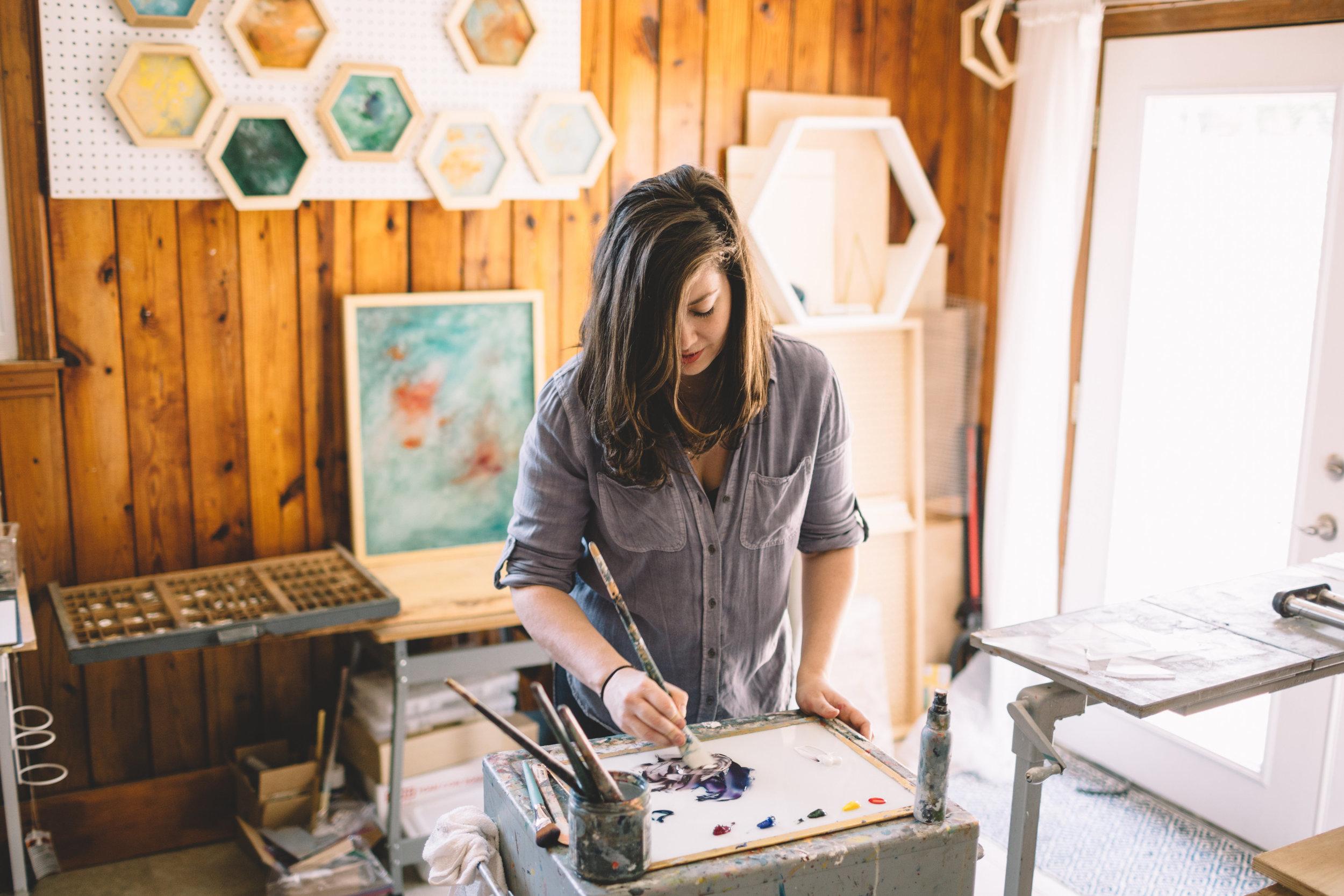 Mary in Studio