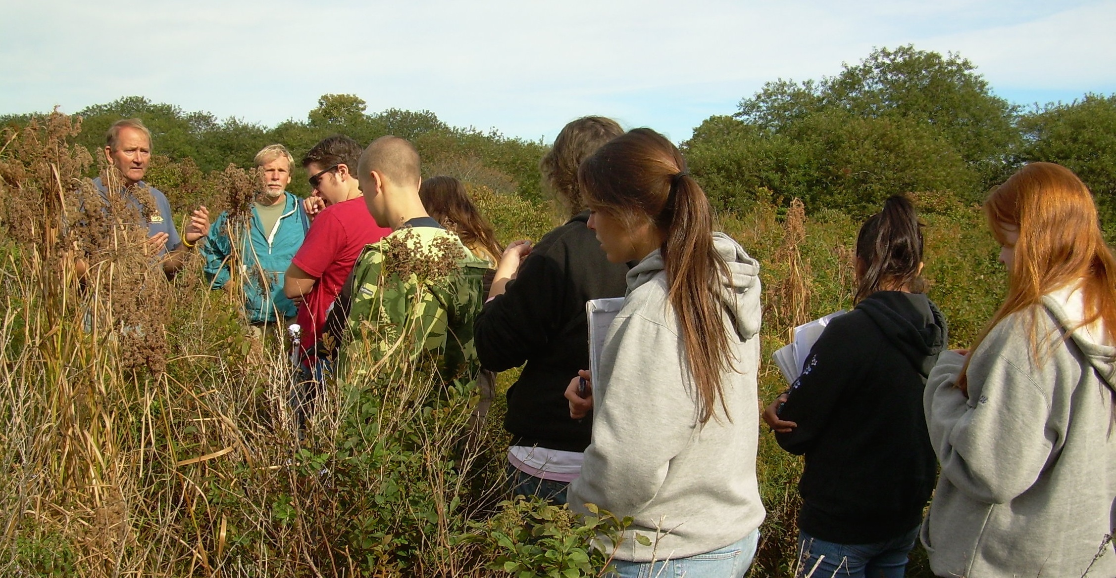 Estuary Restoration Project, sharing stewardship opportunities, local students.