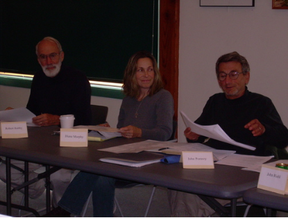Robert Hubby (vice chair) Wellfleet Open Space Committee; Diane Murphy, Cape Cod Cooperative Extension Service; John Portnoy, Senior Ecologist, Cape Cod National Seashore.