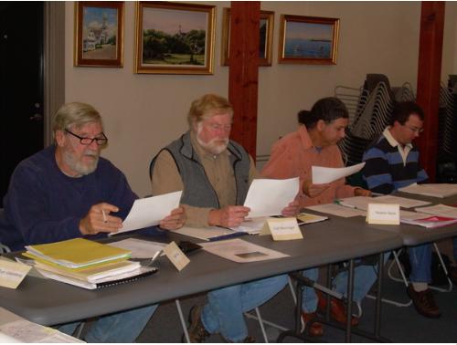 Joel Fox; Carl Breivogal, Wellfleet Herring Warden; Stephen Spear, Natural Resources Conservation Service, USDA; Steve Block, NOAA Restoration Center.