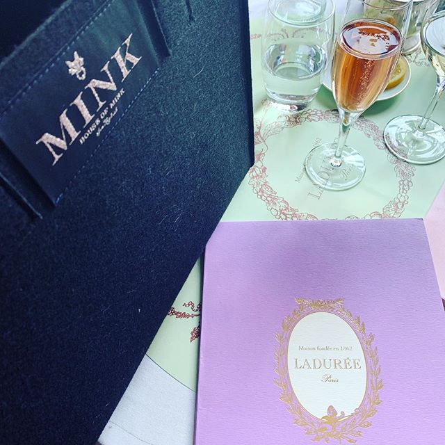 Laduree and MINK #houseofmink #laduree #pinkchampagne #london #missingbelgravia #hermes #dior #gucci